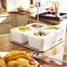 <strong>Blomus</strong> Enza Five Piece Dip Bowl Set with Tray