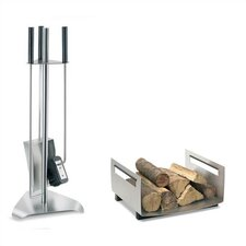Chimo 3 Piece Stainless Steel Fireplace Tool Set