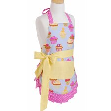 Girl's Apron in Frosted Cupcake