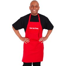 "<strong>Flirty Aprons</strong> Men's ""Kiss The Cook"" Apron in Red"