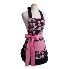 <strong>Flirty Aprons</strong> Women's Original Apron in Midnight Bloom