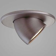 "Jewel 3.6"" Adjustable Wallwash Round Downlight Trim with Optional Housing"