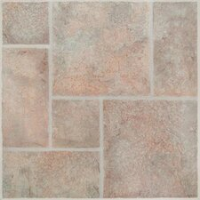 "American Random Tumbled Stone 24"" x 24"" Vinyl Tile in San Remo"