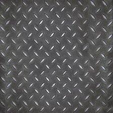 "Metro Design Textured Metallic Tile 18"" x 18"" Vinyl Tile in Black (Set of 44)"