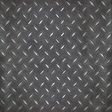 "Metro Design Textured Metallic Tile 18"" x 18"" Vinyl Tile in Black"