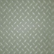 "Metro Design Textured Metallic Tile 18"" x 18"" Vinyl Tile in Green"