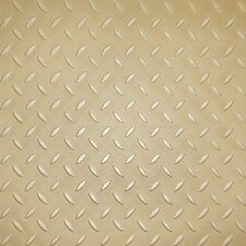 "Metro Design Textured Metallic Tile 18"" x 18"" Vinyl Plank in Gold"