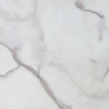 "Solidity 40 Carrera 16"" x 16"" Vinyl Tile in Calcutta White"