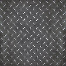 <strong>Metroflor</strong> SAMPLE - Metro Design Textured Metallic Tile Vinyl Tile in Black