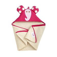 <strong>3 Sprouts</strong> Pink Elephant Hooded Towel