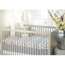 Bloom Solid Band Crib Skirt