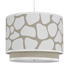 Cobblestone 3 Light Double Cylinder Drum Pendant