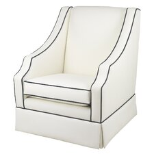 Cohen Glider - White Faux Leather
