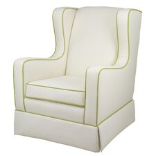 Penelope Glider - White Faux Leather
