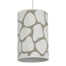 Cobblestone Cylinder Light in Taupe