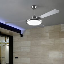 Bahia One Ceiling Fan in Satin Nickel