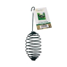 "5"" Spiral Suet Ball Bird Feeder in Green"