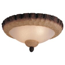 Great Lodge Two Light Bowl Ceiling Fan Light Kit or Semi Flush Mount