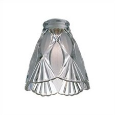 Combination Frosted and Clear Crystal Accessory Glass Shade