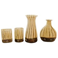 4 Piece Handmade Vase Set