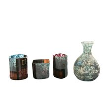 Handmade Vases in Sky and Ground Multicolor (Set of 4)
