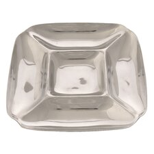 Handmade Decorative Rehilete Small Snack Container in Bright Silver