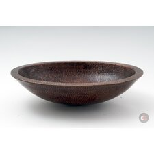 <strong>Ambiente</strong> Copper Handmade Bar Vessel Double Wall Oval Bathroom Sink