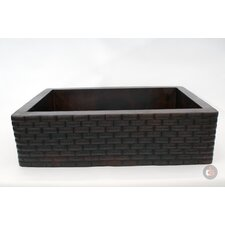"33"" x 22"" Handmade Farmhouse Single Well Large Bricks Kitchen Sink"