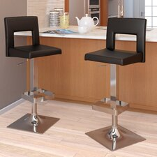 Square Padded Adjustable Bar Stool (Set of 2)