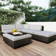 Park Terrace 5 Piece Deep Seating Group with Cushions