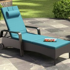 Riverside Patio Chaise Lounge with Cushion