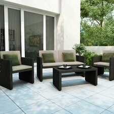 <strong>dCOR design</strong> Creekside 4 Piece Lounge Seating Group with Cushions
