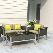 Lakeside 4 Piece Deep Seating Group with Cushions