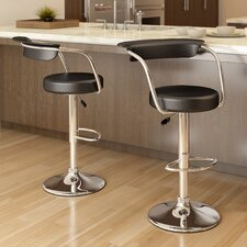 "CorLiving 24.5"" Adjustable Bar Stool with Cushion (Set of 2)"