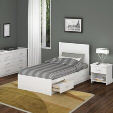 Willow Storage Platform 3 Piece Bedroom Collection