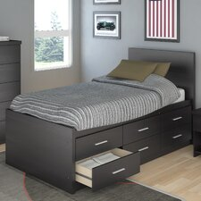 Willow Captain's Storage Platform Bed