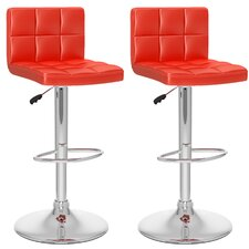 High Back Adjustable Bar Stool (Set of 2)