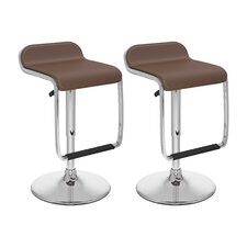 Adjustable Bar Stool with Footrest (Set of 2)