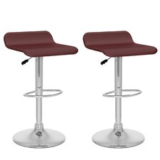 Curved Adjustable Bar Stool (Set of 2)