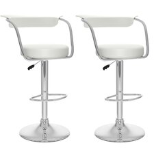 Open Back Adjustable Bar Stool (Set of 2)