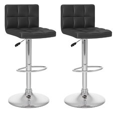 CorLiving High Back Adjustable Barstool (Set of 2)