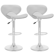 CorLiving Adjustable Bar Stool with Cushion (Set of 2)