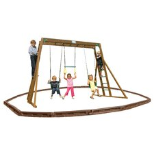Classic Top Ladder Swing Set wit Play Zone Components