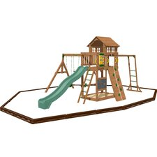 Cypress Swing Set with Play Zone Components