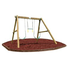 Classic Swing Beam Set with Rubber Mulch