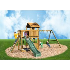 Cambridge Swing Set with Swing Beam and Roped Accessories