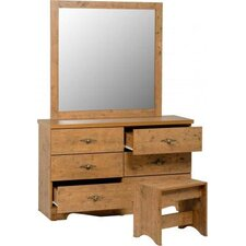 Cairo 6 Drawer Dressing Table Set