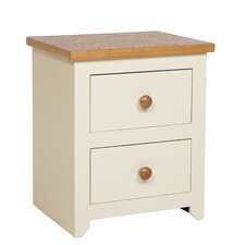 Jamestown 2 Drawer Bedside Table