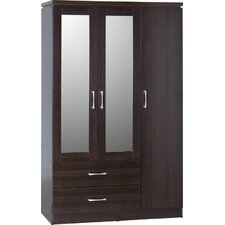 Charles 2 Drawer 3 Door Mirrored Wardrobe