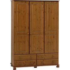 <strong>Home Essence</strong> Balham Three Door Four Drawer Wardrobe in Pine